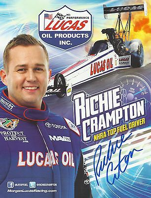 RICHIE CRAMPTON SIGNED COLOR 8X10 PHOTO CARD NHRA ROOKIE OF THE YR AUTOGRAPH