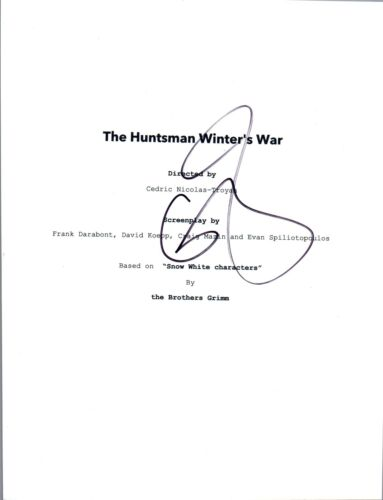 Emily Blunt Signed Autographed THE HUNTSMAN WINTER'S WAR Movie Script COA VD