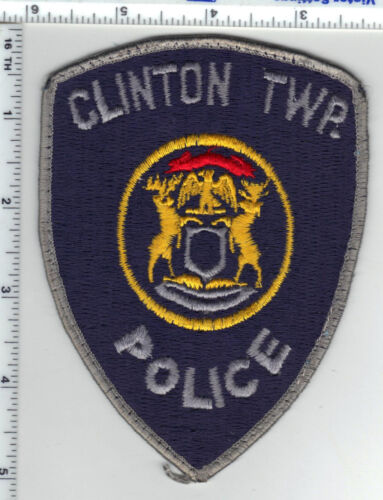 Clinton Township Police (Michigan) Uniform Take-Off Shoulder Patch from 1980