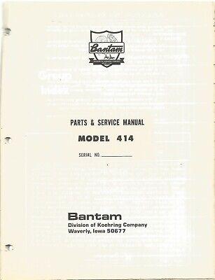 Koehring Bantam Model 414 Carrier Parts  Service Book Manual
