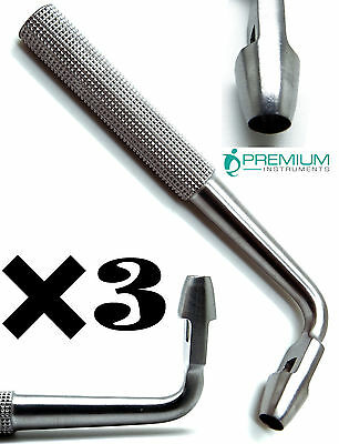3 Dental Tissue Punch 5mm Angled L Shape Premium Surgical Instruments