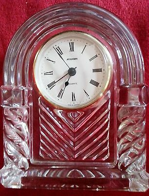 STAIGER 24% LEAD CRYSTAL QUARTZ CLOCK, GERMANY.