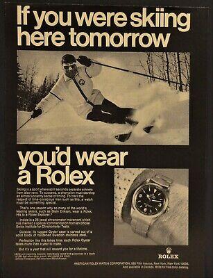 1969 Rolex Explorer 26 Jewel Chronometer Watch Print Ad Oyster Case
