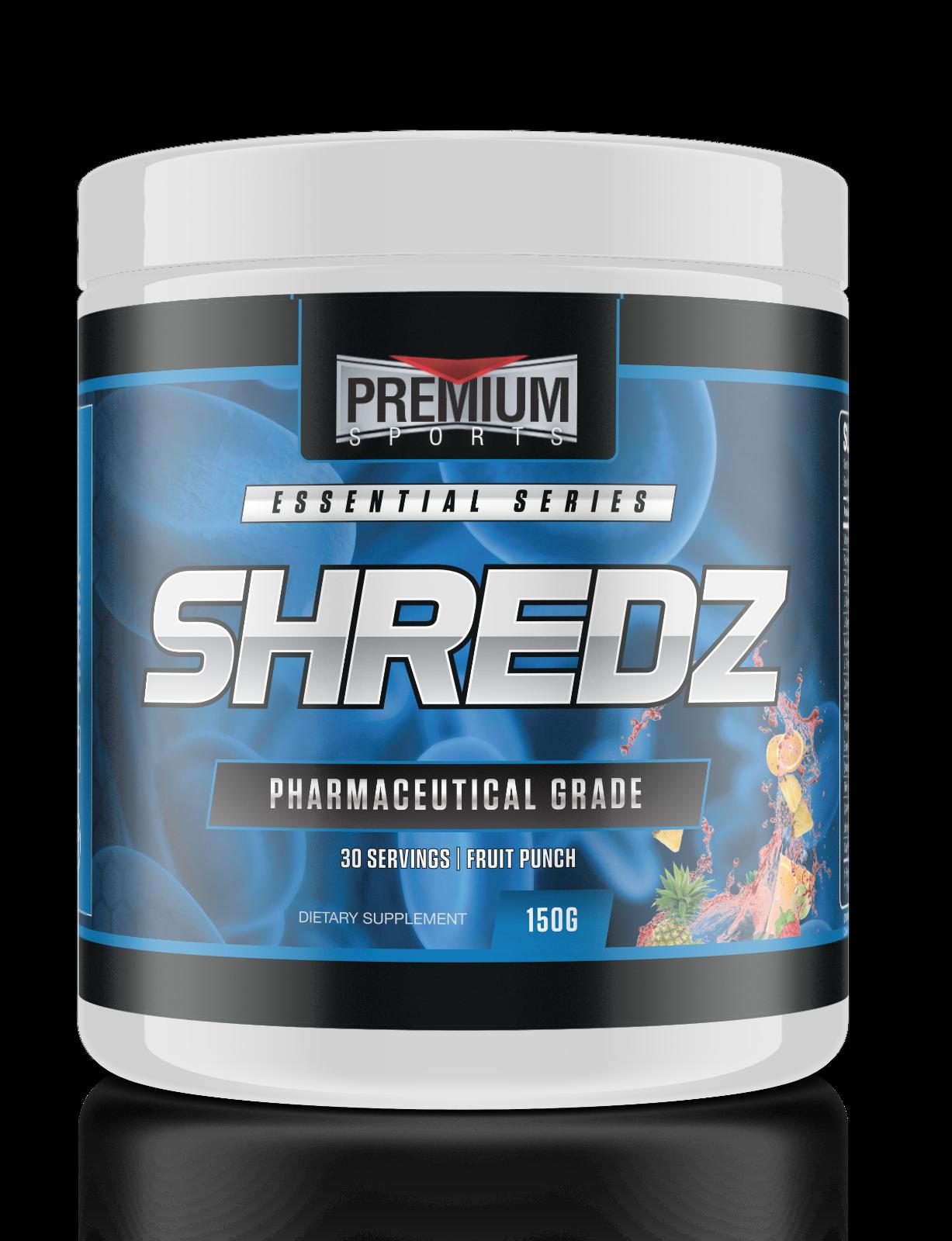 SHREDZ 150g by Premium Sports Max Energy Fat Burner Powder /