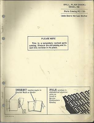 John Deere Drill Plain Grain Model Rb Parts Catalog