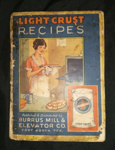 """1930s """"Light Crust Recipes"""" advertising cook book pamphlet"""
