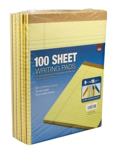 Tops 100-Sheet Legal Pads (pack of 9 pads), Canary Yellow - Made in USA
