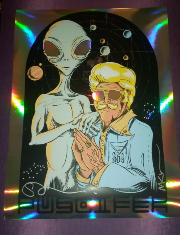 Puscifer Signed Billy D & Friend Foil / minor damage see pics