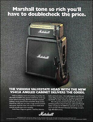 Marshall VS 100R-H Head 412-A Cabinet amp ad 1997 amplifier advertisement print comprar usado  Enviando para Brazil