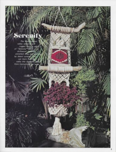 Vintage Macrame Plus Pattern Book for Plant Hangers and Wall Decor