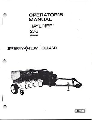 New Holland 276 Square Baler Operator Manual 42027612