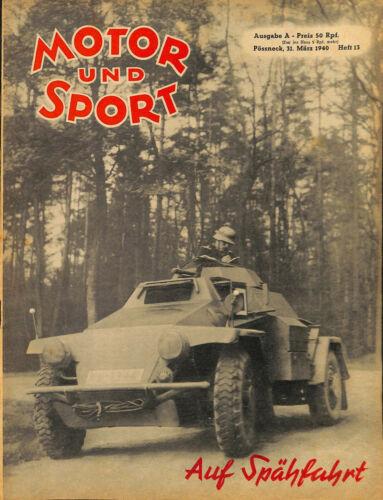 13946 MOTOR UND SPORT No. 13-1940oil, Greif, highways, Merane 406, motorcycle