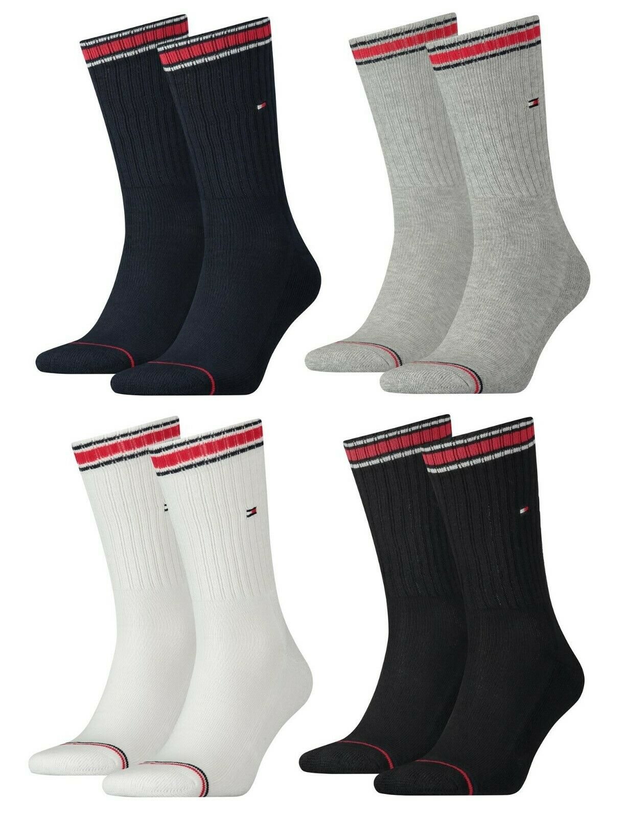 Tommy Hilfiger TH MEN ICONIC SOCK SPORTS 2 4 Paar Tennissocke Socke Frotteesohle