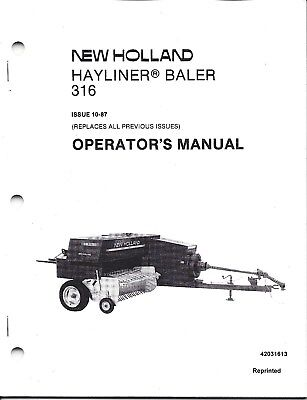 New Holland 316 Square Baler Operator Manual 42031613