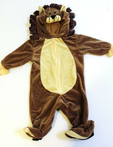 Lion Halloween Costume Size 6 9 Months Plush Brown Hooded
