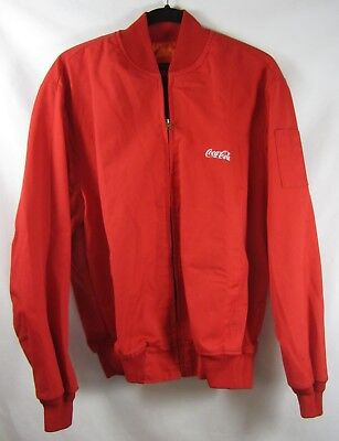 Coca Cola Bomber Jacket Trucker Delivery Coat Embroidered Made in USA Sz L