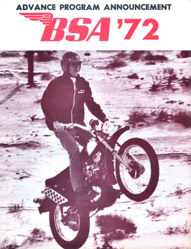 ORIG 1972 BSA MOTORCYCLE BROCHURE A75 ROCKET-3 LIGHTNING 650 THUNDERBOLT B50MX