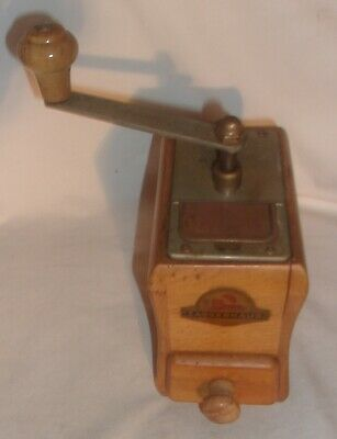 SMALL VINTAGE ZASSENHAUS COFFEE GRINDER MADE IN GERMANY WORKS HAS SURFACE RUST