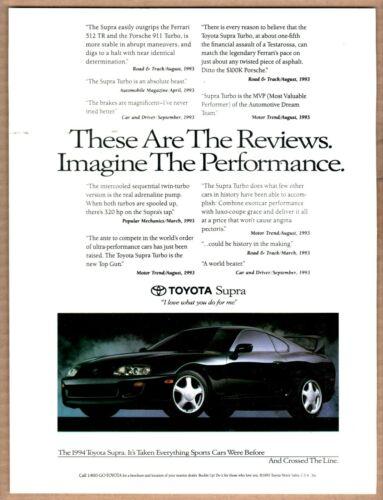 1994 Toyota Supra Print Ad