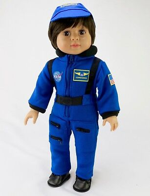 Navy Blue NASA Astronaut Jumpsuit by American Fashion World for 18'' Dolls