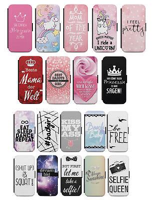 Samsung Galaxy Flip Etui Tasche Handyhülle Case Cover Zitat Spruch Sprüche V2 s1 - S1 Handy