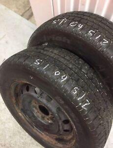 x2 BFGoodrich Winter Tires 215/60/15 with rims, 5x114.3