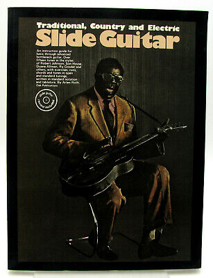 Slide Guitar Traditional, Country and Electric by Arlen Roth w/ Record! PB 1975 Slide Guitar Book