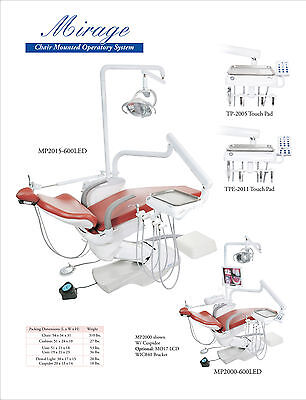 Tpc Dental Mirage Mp2015-600led Chair Mounted Operatory System No Cuspidor