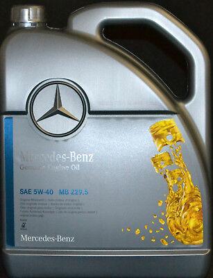 5 Liter ORIGINAL MERCEDES BENZ  5W40 PKW MOTORÖL MB 229.5 Synthetic für Benziner