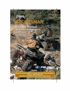 Polaris Owners Manual Book 2004 SPORTSMAN 700