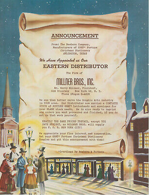 1950s Newbern & Parkman Letterhead Christmas Stationery Xmas Great Graphics ()