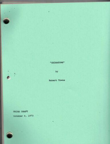 CHINATOWN movie script starring Jack Nicholson