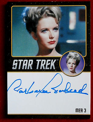 STAR TREK TOS 50th, BARBARA BABCOCK, MEA 3, Autograph Card VERY LIMITED