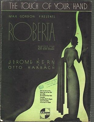 The Touch of Your Hand 1933 Roberta Sheet Music