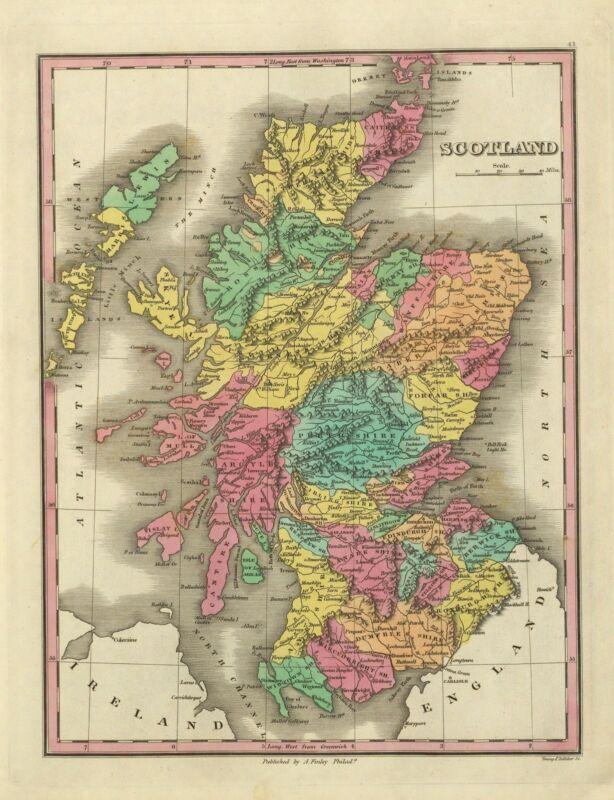175 old maps of SCOTLAND genealogy lots HISTORY highlands DVD
