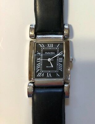Charles Delon Marvelous Original Watch for Parts or Repair Leather Band