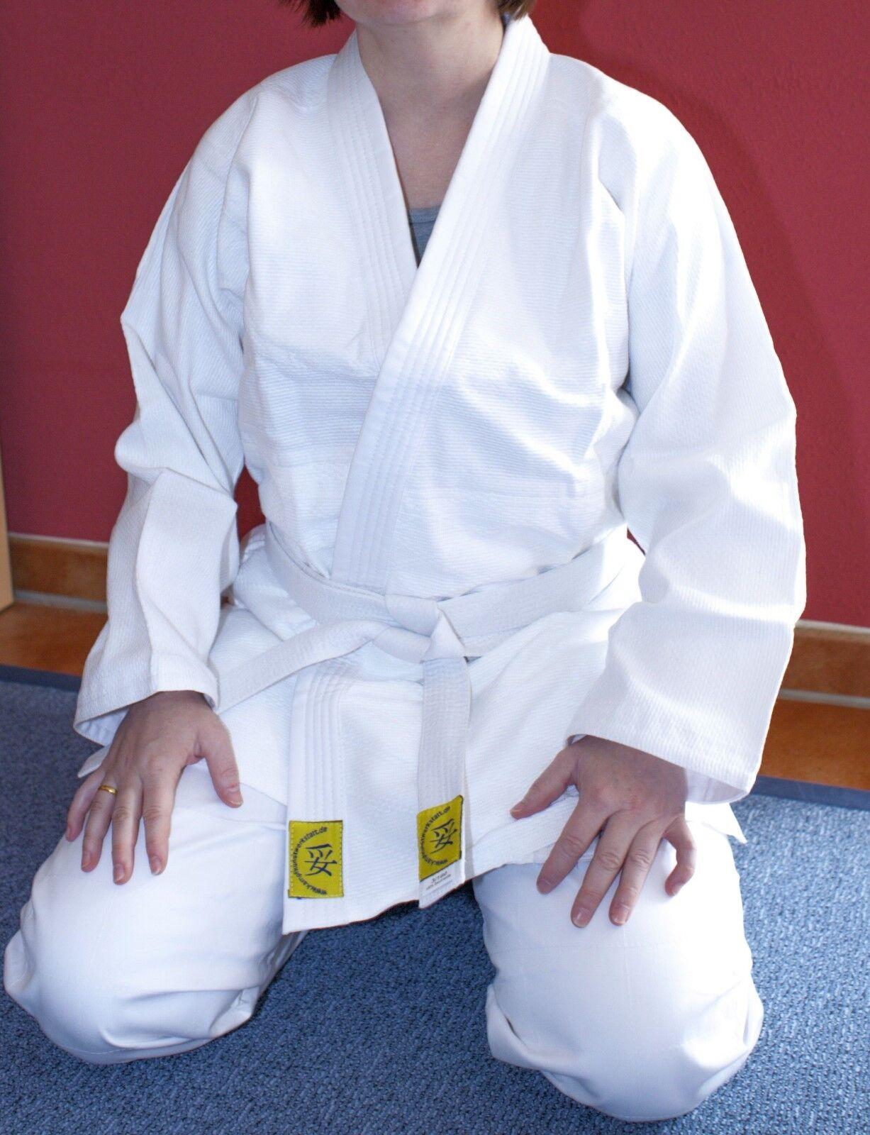 Neuer Aikidoanzug Aikido-Anzug mit Reiskornwebung weiß, Gr. wählbar, Mod. 14