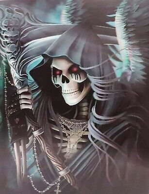 Grim Reaper Death - 3d Lenticular Poster Print -12 x16