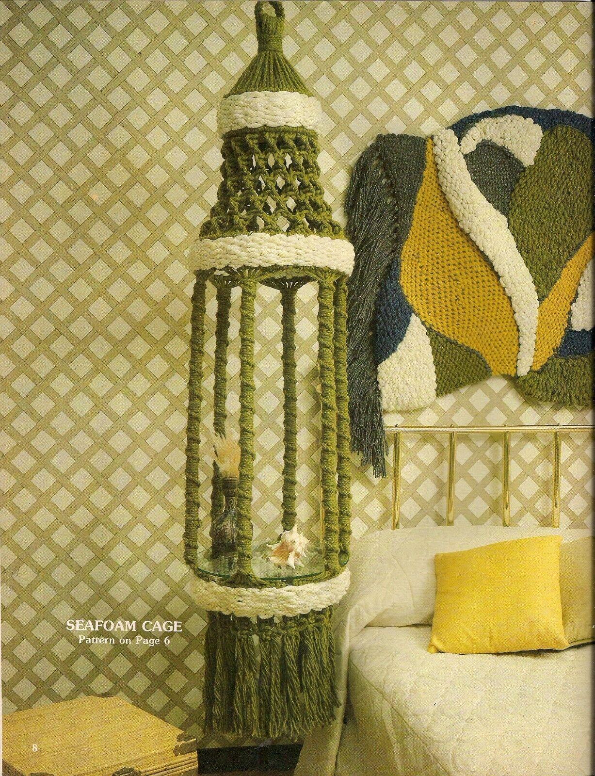 MACRAME PLANT HANGER, Waste Basket & Picture Frame - Craft Book ...