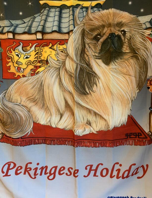 Pekingese  Holiday House Flag