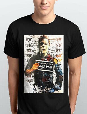 Michael Myers Halloween Haddonfield Police Mug Shot Horror Movie T-Shirt New