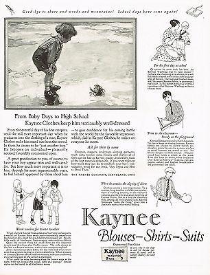 1920s BIG Vintage Kaynee Clothing Fashion Childrens Clothes Beach Art Print Ad