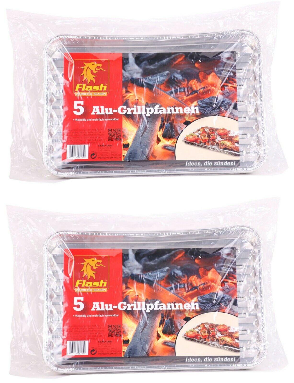 FLASH Grill-Aluschale eckig 10 Stück