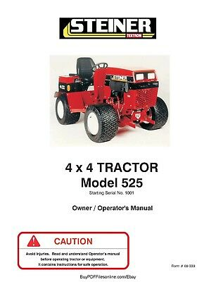 Steiner 4 X 4 Tractor Model 525 Operators Manual On Cd