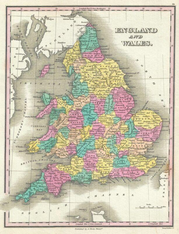 1828 Finley Map of England