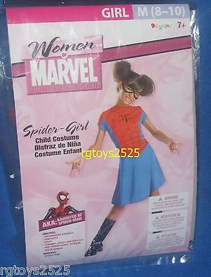Spiderman SPIDERGIRL Costume Size 8-10 Medium Med M New 8 10 Spider Girl