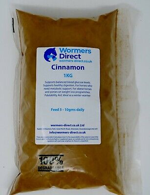 1KG CINNAMON EQUINE HERB SUPPLEMENT FOR HORSES METABOLIC DIGESTION & WEIGHT LOSS