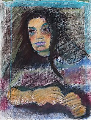 "Michael Steiner ""Woman Series #4"", Pastel & Charcoal, 23""h x 17""w image"