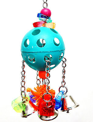 Four Bells Dino Pet Bird Parrot Toy Medium Senegal Mini Macaw Small Cockatoo
