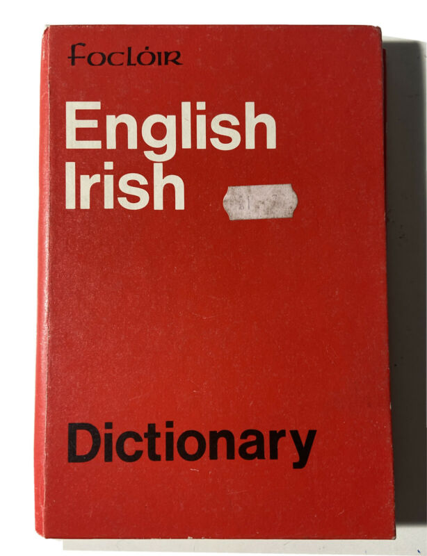 English Irish Dictionary Focloir Talbot Press 1976 Ireland Harcover